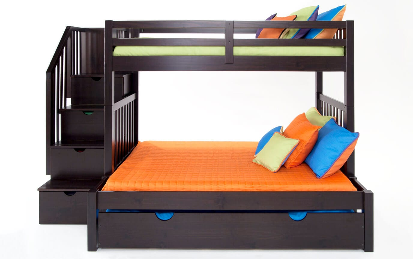 Keystone Stairway Twin/Full Bunk Bed With Storage/Trundle