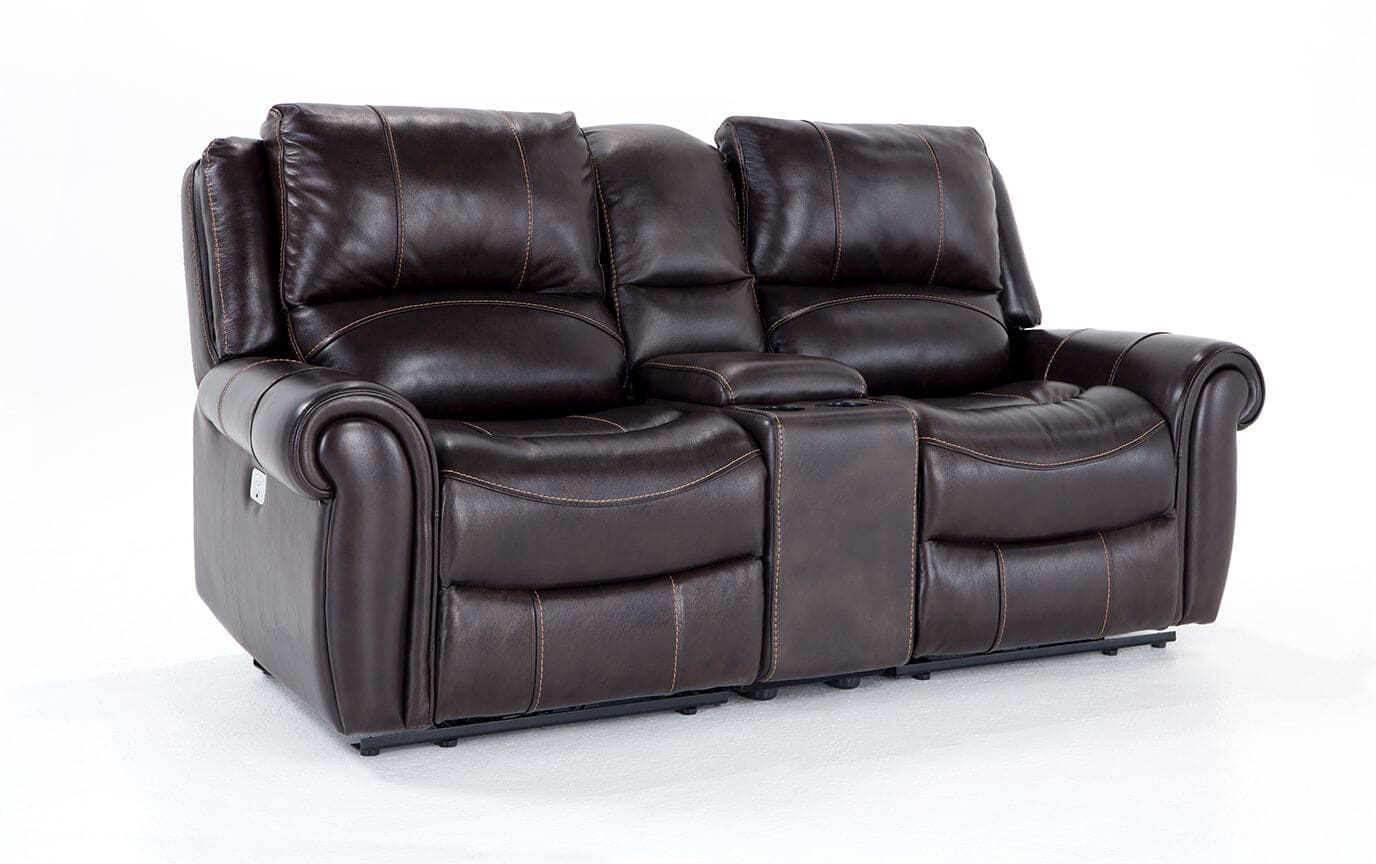 gladiator power dual reclining sofa reviews rounded chaise bennett leather 79 quot console loveseat bob