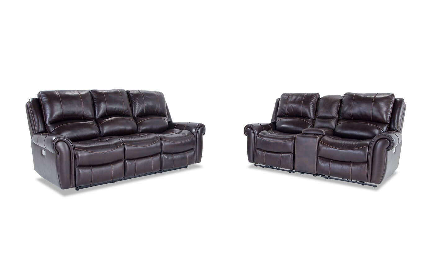 bennett leather sofa sofas sectional canada power reclining and