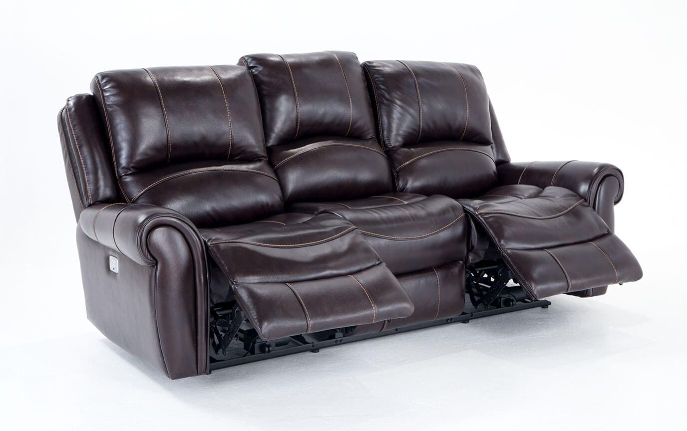 bennett leather sofa sectional sofas austin power reclining and