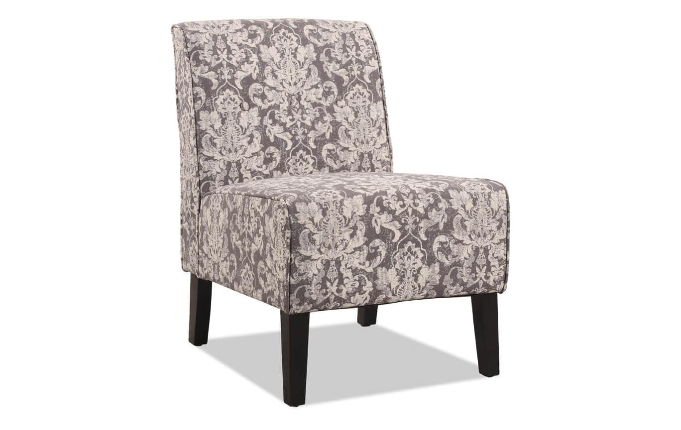 Damask Chair Gray Damask Accent Chair