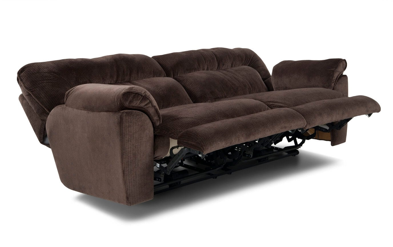 the brick cindy crawford reclining sofa used birmingham klaussner belleview transitional dual