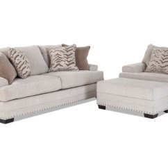 Large Leather Chair With Ottoman Striped Sofas And Chairs Glitz Sofa Bob S Discount Furniture