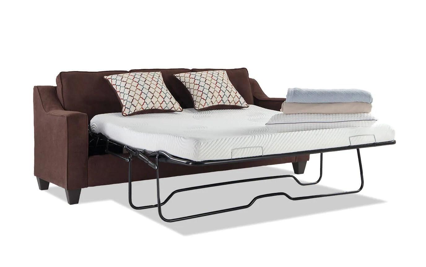 memory foam sofa reviews sectional protectors fiesta queen bob o pedic gel sleeper