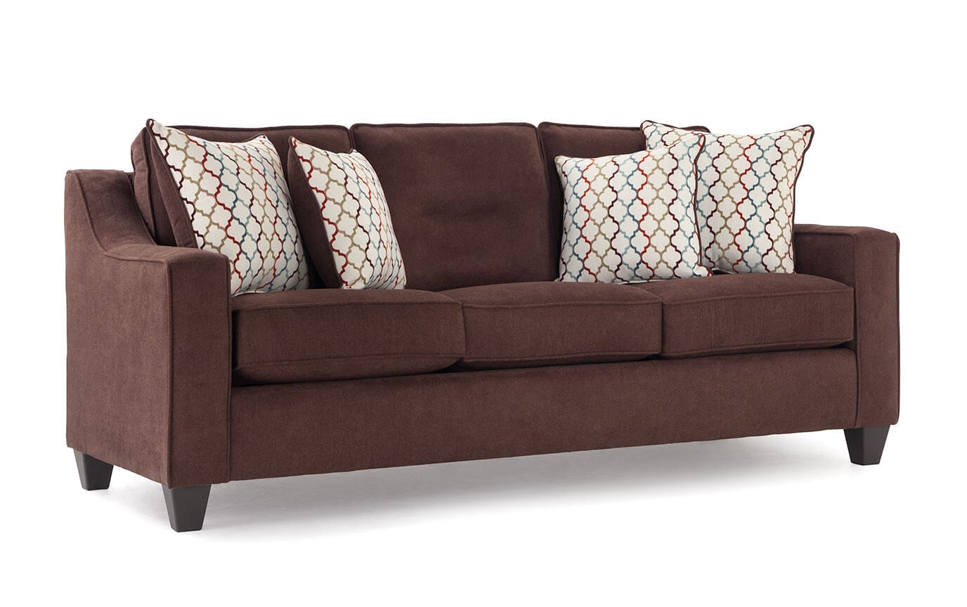 bobs furniture sleeper sofa upholstered chesterfield fiesta queen bob o pedic gel memory foam