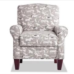 Grey Club Chair Wicker Porch Cushions Accent Chairs Bobs Com Elsa Puppy