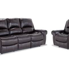 Bennett Leather Sofa Bedroom Furniture Power Reclining And Recliner
