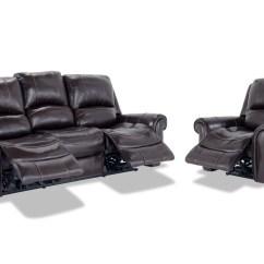 Bennett Leather Sofa 1 Lugar Reclinavel Power Reclining And Recliner