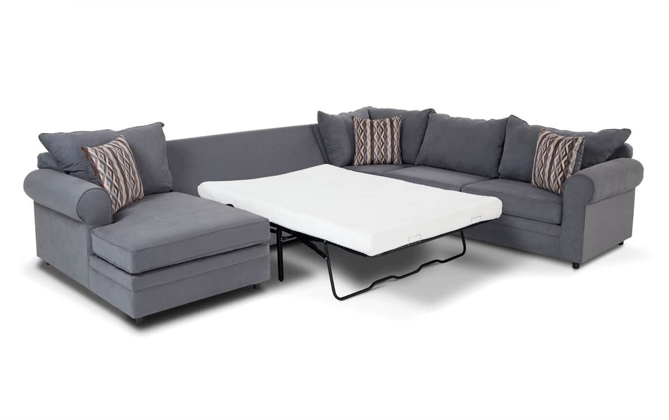 right arm sleeper sofa classic modern venus 4 piece facing bob o pedic gel full