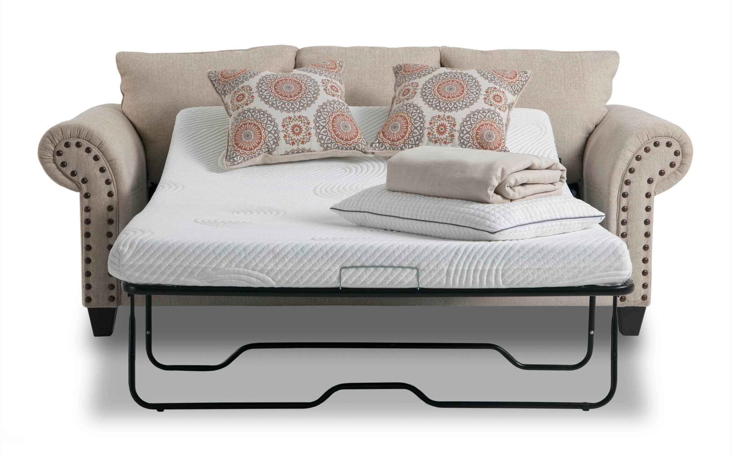 Artisan Beige Bob O Pedic Full Sleeper Sofa Bobs Com