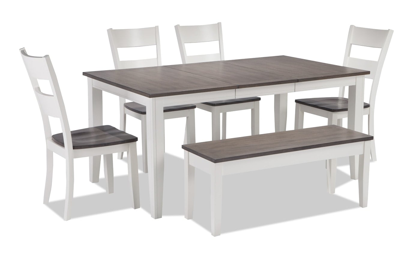 Blake 6 Piece Dining Set With Storage Bench