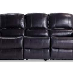 Leather Sectional Sofas With Power Recliners Queen Size Sofa Bed Sheets Phoenix Black Reclining Bobs