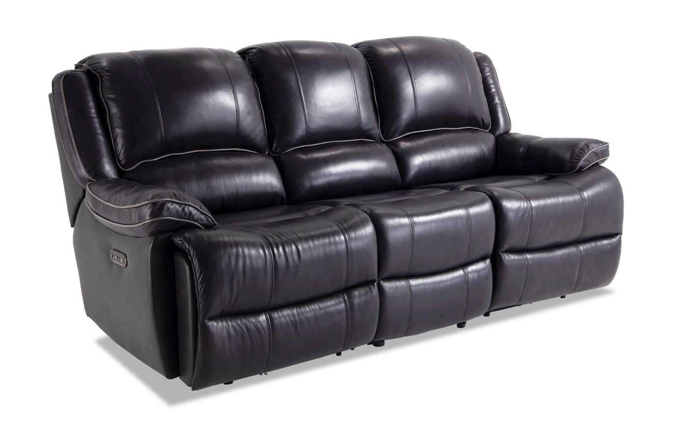 reclining leather sofas best sofa reviews 2018 phoenix black power bobs com gallery slider image 2