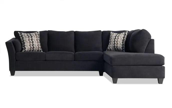 folding chair beds foam 2 wicker round sleeper sofas bobs com virgo piece left arm facing queen bob o pedic gel sectional