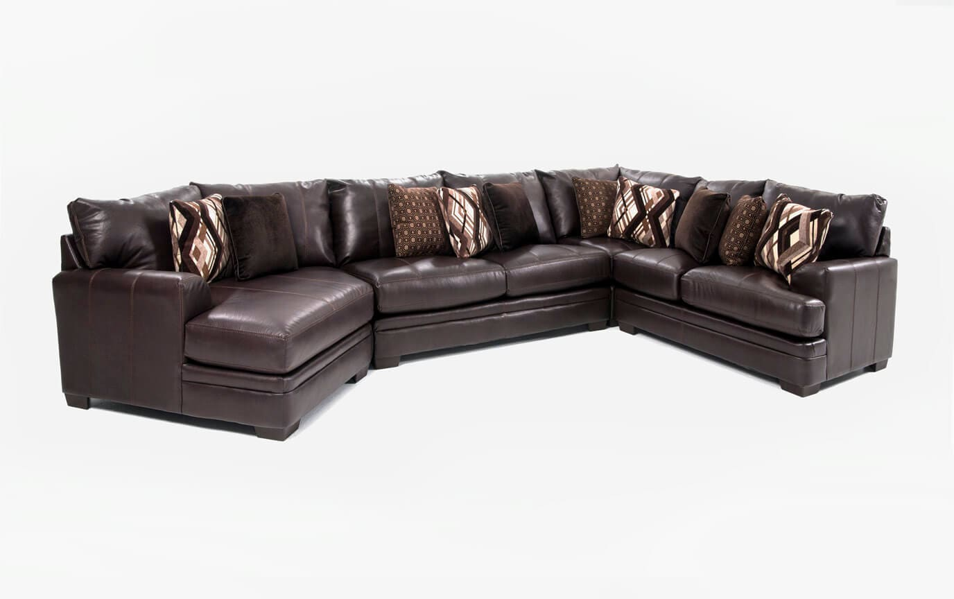 right arm facing sofa left chaise convertible dining table ritz 4 piece sectional with cuddler