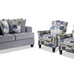 Living Room With Sofa And Two Accent Chairs Color Ideas For Small Walls Monica Loveseat 2 Bobs Com Gallery Slider Image