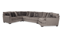 Luxe 4 Piece Sectional With Cuddler Chaise | Bob's ...