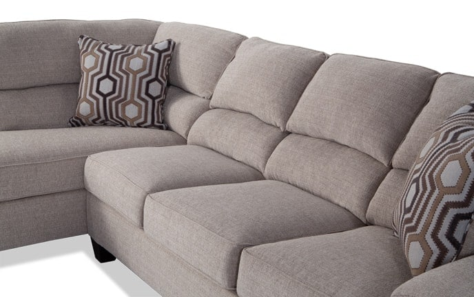 cloud track arm leather two seat cushion sofa oxblood sectionals bobs com calvin 2 piece right facing sectional