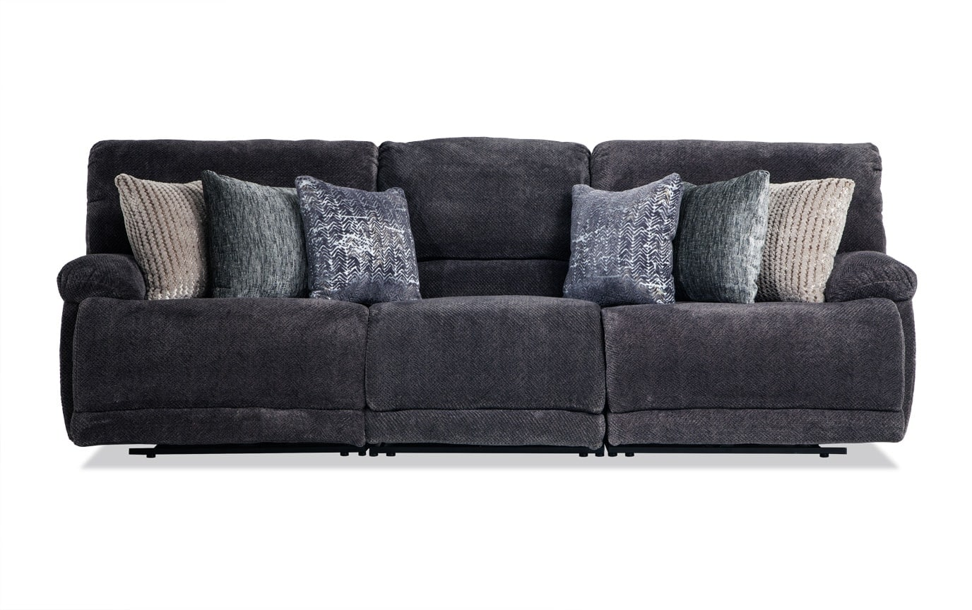 triple reclining sofa envelop sectional alpine power bobs