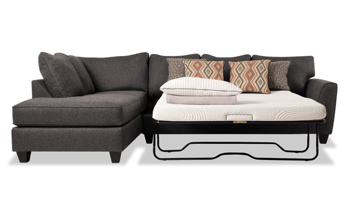 chair arm table attachment blood drawing sectionals bobs com capri right facing full bob o pedic sleeper sectional