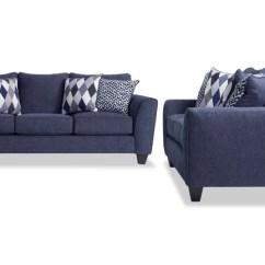 Blue Living Room Sets Wood Set Bobs Com Capri Sofa