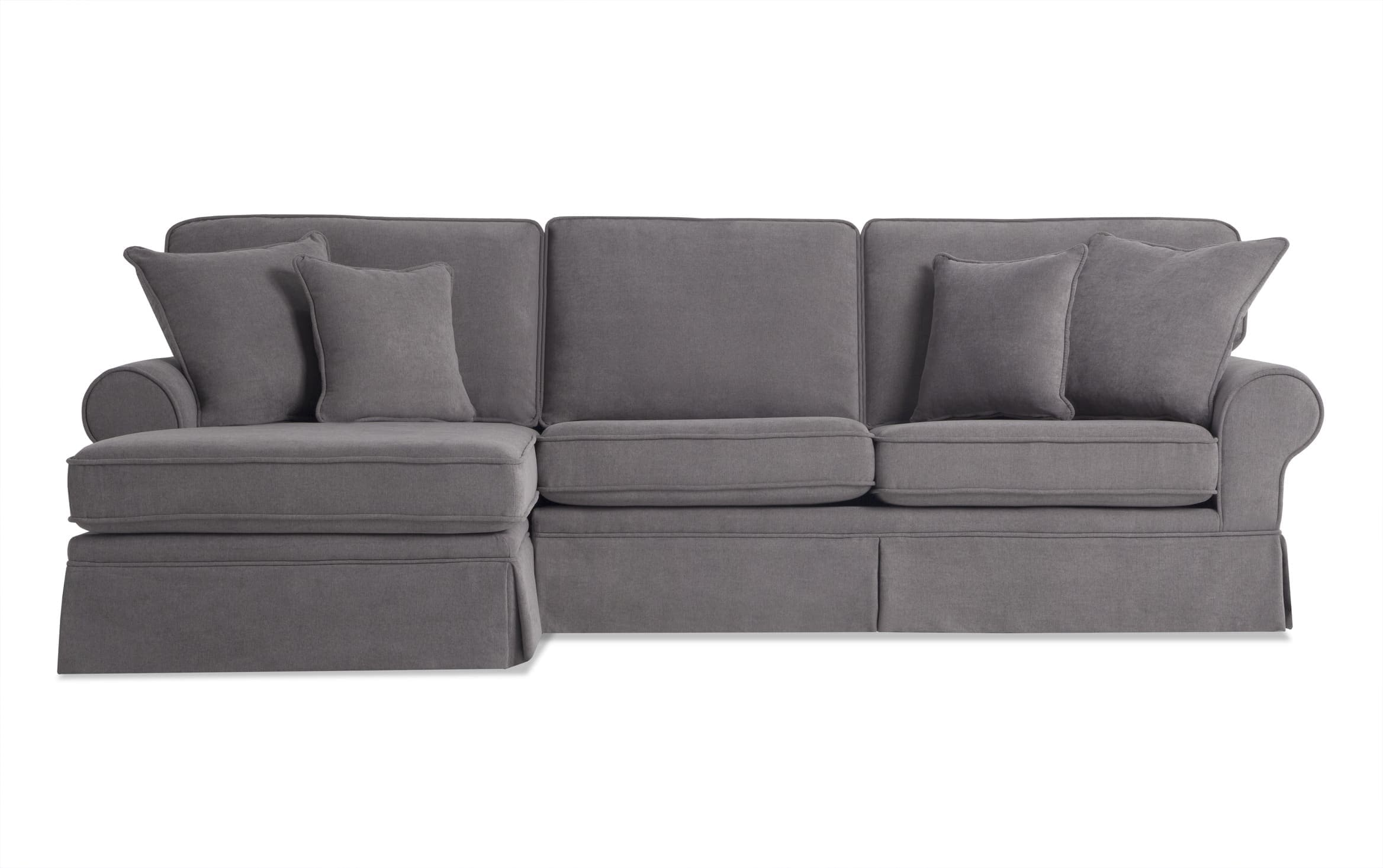 katie charcoal 2 piece right arm facing sectional