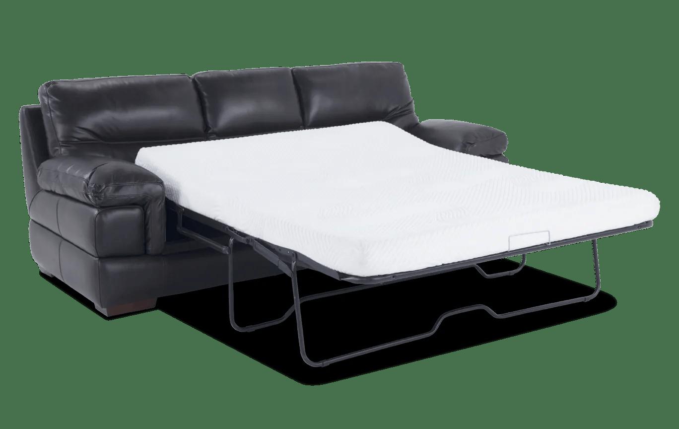 Carter Leather Bob O Pedic Gel Queen Sleeper Sofa