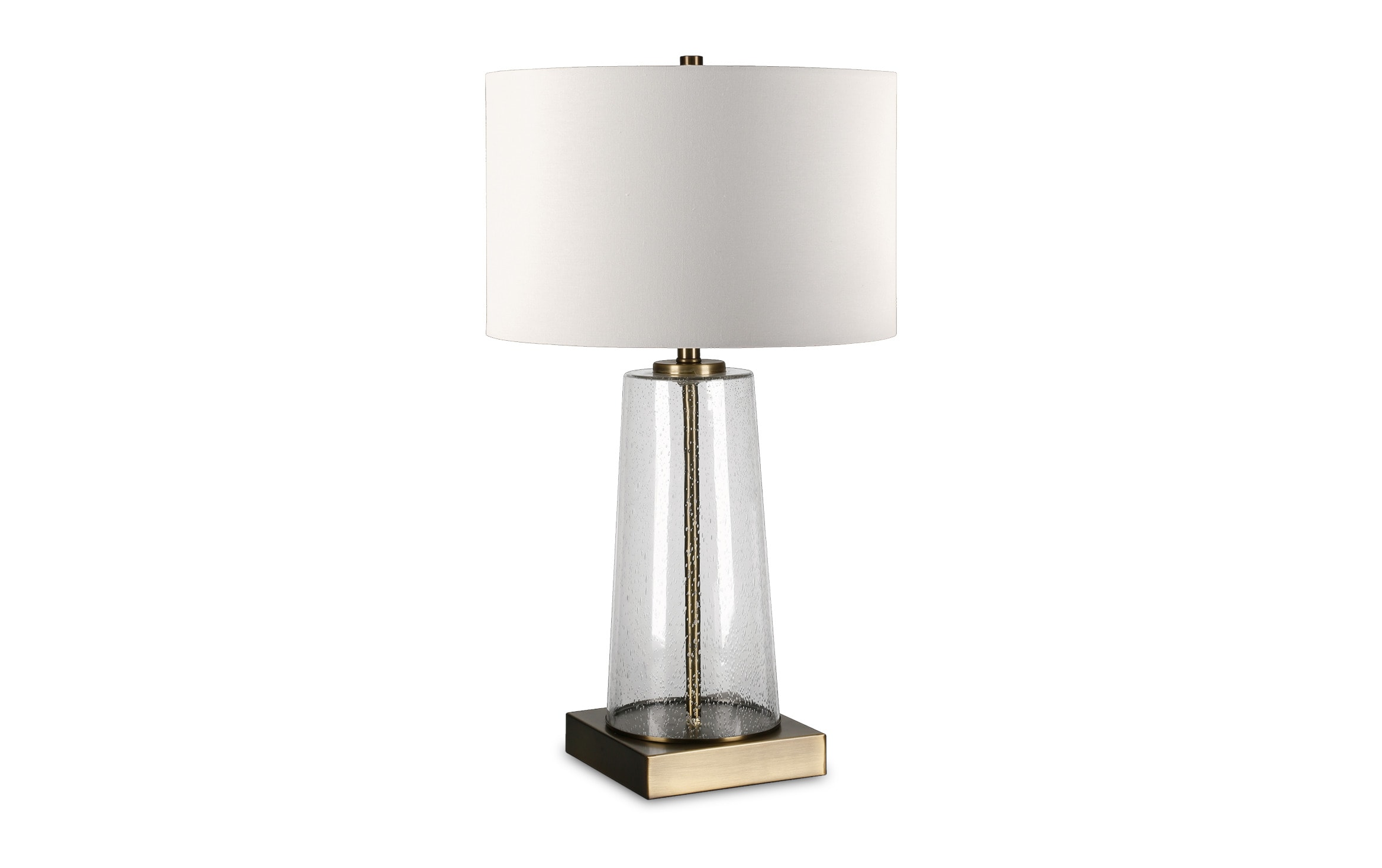Tanya Clear Glass Brass Table Lamp Bobs Com