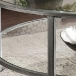 Ria Silver Metal Glass Round Coffee Table Bobs Com