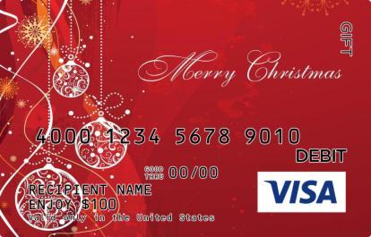 Rudolph Red Christmas Visa Gift Card