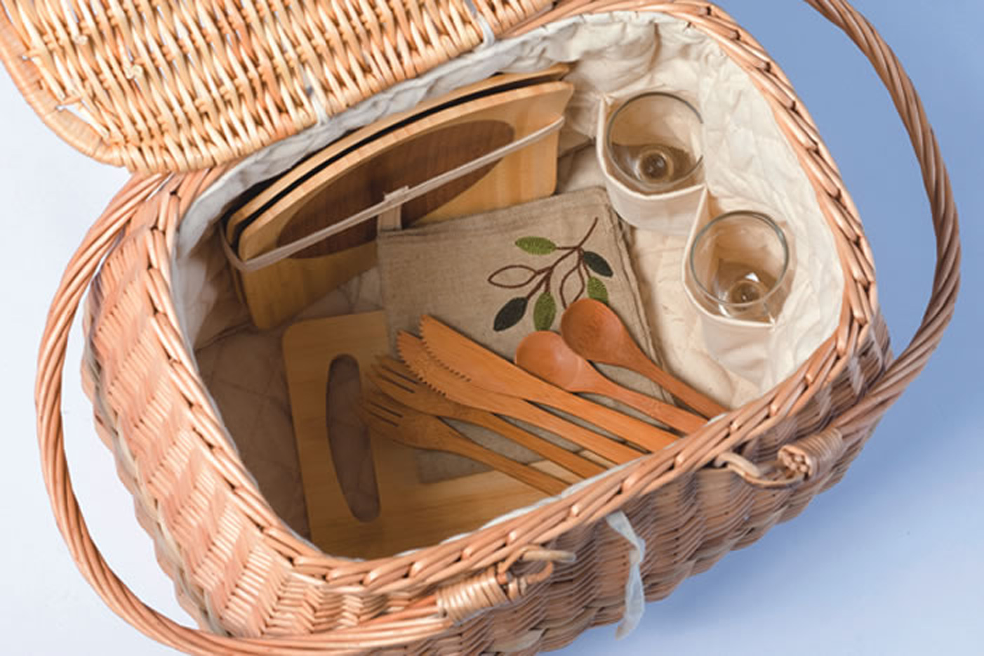 Picnic Plus Eco Friendly 2 Person Picnic Basket with