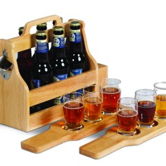 Picnic Time Sports Chair Trendy High Plus 6 Pack Craft Beer Carry Set