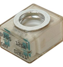 blue sea 5184 buss 125a 58v dc fuse terminal for use with terminal fuse block  [ 1000 x 1000 Pixel ]