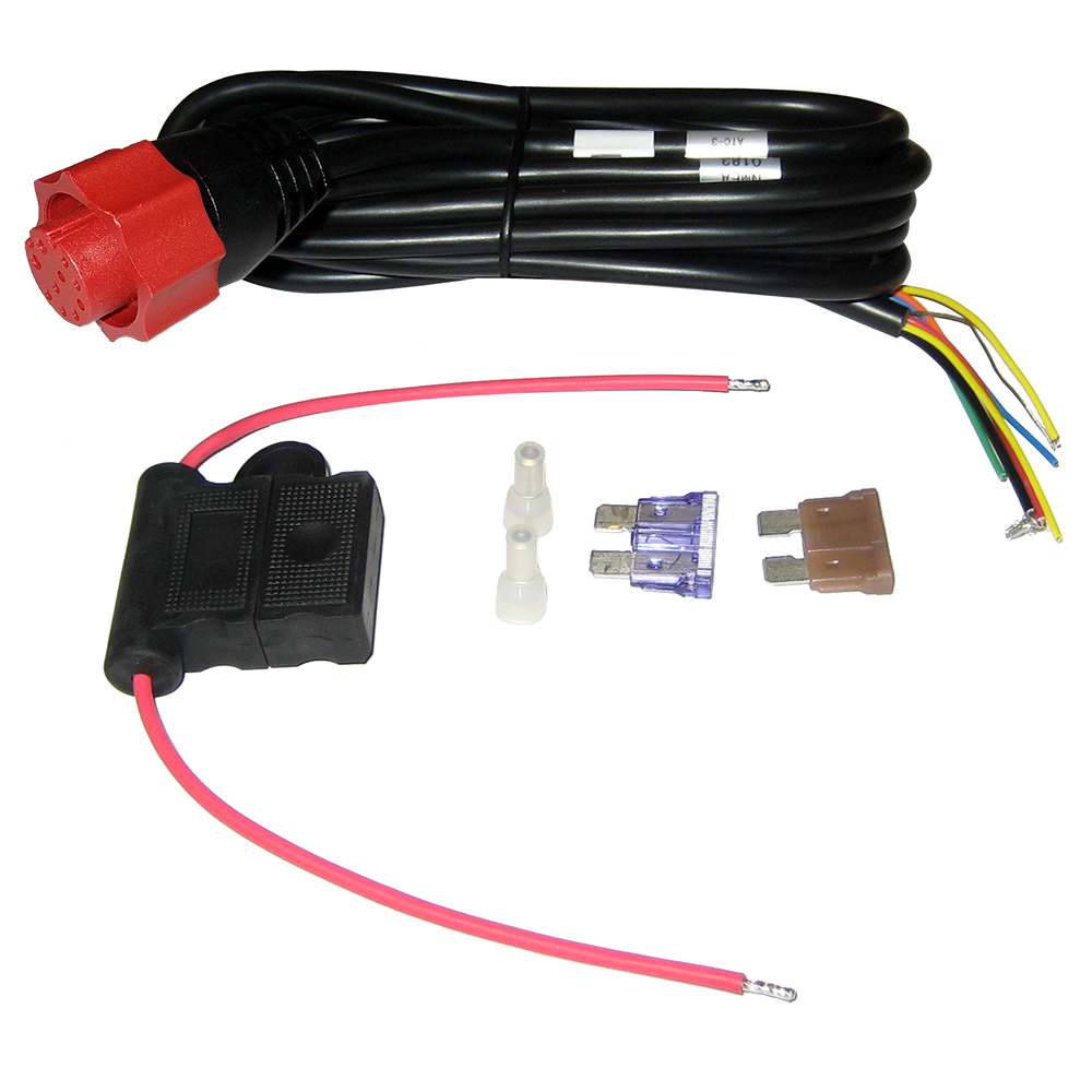 hight resolution of lowrance 127 49 hook 4 5 7 hds elite hdi power cable blue plug lowrance elite 7 wiring diagram