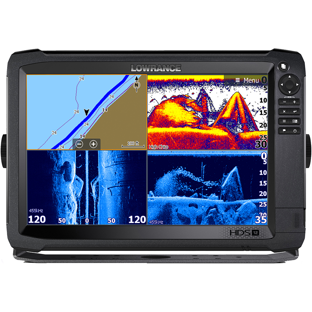 hight resolution of lowrance hds 12 carbon mfd with c map insight no transducer 000 13686 001