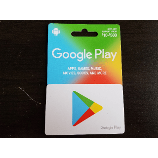 Google Play Card 500 Card Value Google Play Gift