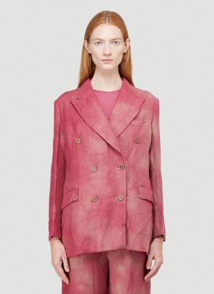 OUR LEGACY WORK SHOP Unconstructed Double-Breasted Blazer in Pink