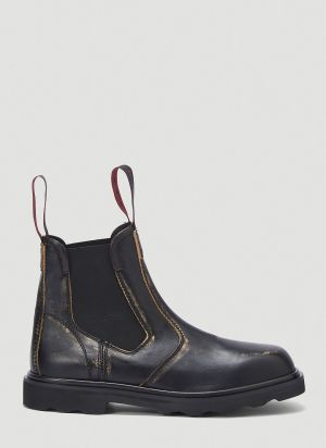 Marni Leather Chelsea Boots in Black