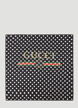 Gucci Pois Logo Scarf in Black