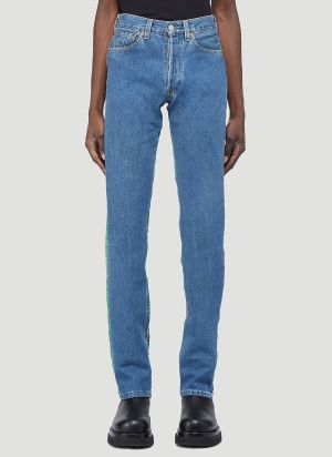 (D)ivision Upcycled Split Jeans in Blue