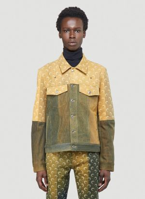 Marine Serre Jeans Jacket in Yellow