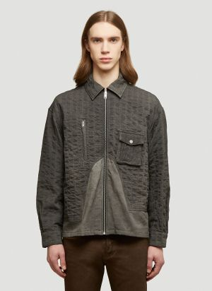 A-COLD-WALL* X Diesel Red Tag Layered Denim Overshirt in Grey