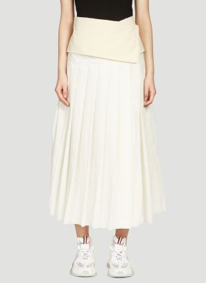 2 Moncler 1952 Wrap-Around Skirt in White