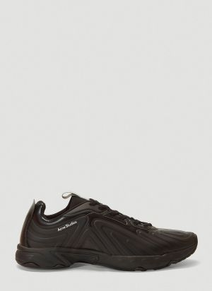 Acne Studios Buzz Faux-Leather Sneakers in Black