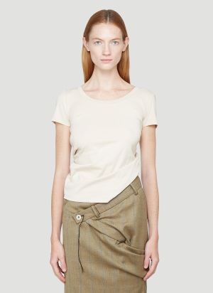 Jacquemus Le T-Shirt Sprezza Top in Beige