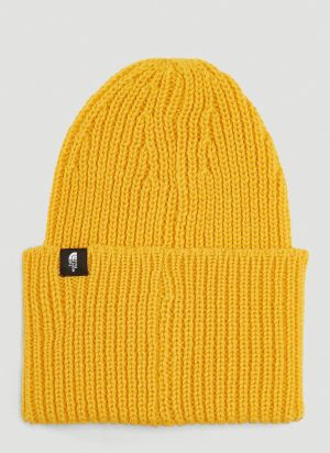 The North Face Black Series Knitted Beanie Hat in Yellow