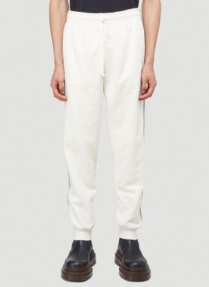 Gucci GG-Logo Trim Track Pants in White