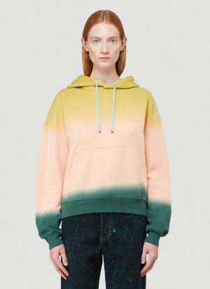 Eckhaus Latta Hooded Sweatshirt in Pink