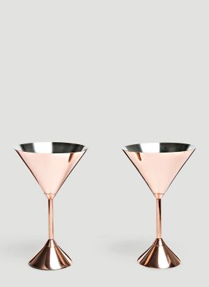 Tom Dixon Plum Martini Glasses in Pink