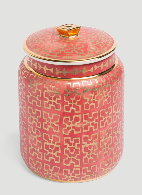 L'Objet Fortuny Small Canister in Red